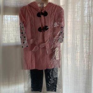 Little Lass Girls Long Sleeve, leggings & Sweater